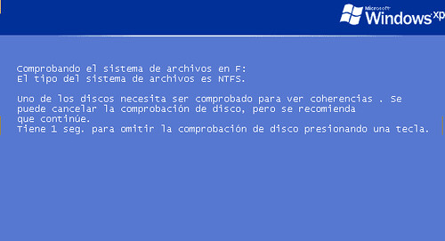 Comprobación de Discos Windows