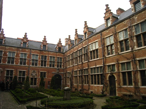 Central courtyard at the Plantin Moretus museum