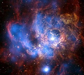 Galaxy M33: Wild and Mild (Chandra, 1/27/09)