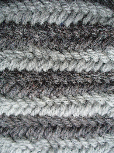 Double Stockinette, or Miniature Herringbone two color