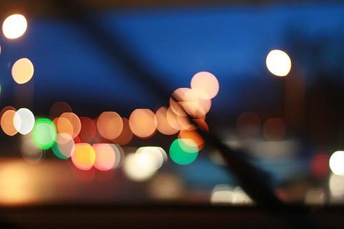 Traffic, windscreen wiper, passing car