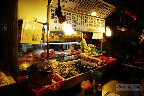有賣河豚肉的日式海產攤。