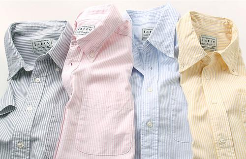 Lativ條紋牛津衫 (圖片來自官網)
