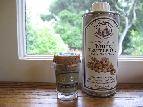 truffle salt and truffle oil