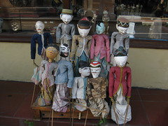 Whether it's fun puppets like these in Ubud, transportation or anything else, getting a fair price is very tough in Bali