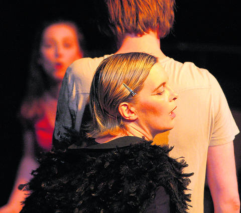 Ulli as the Raven in You Cant Get Lost (photo courtesy of Augsburger Allgemeine)