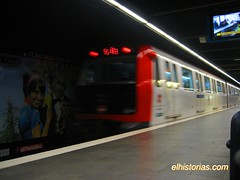 En el Metro de Barcelona