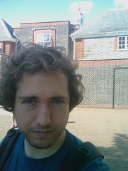 Paul outside the Serpentine Gallery in Kensington Gardens
