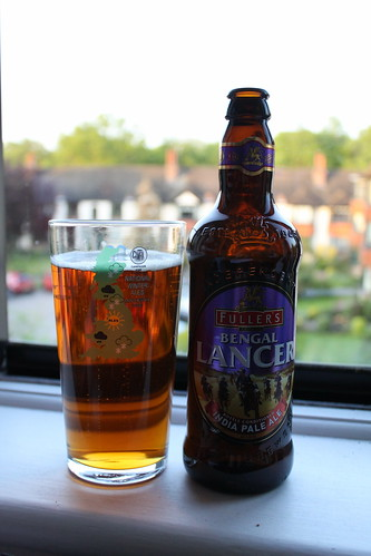 A bottle of Fuller's bengal lancer, sat on the window ledge