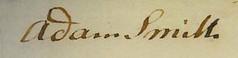 Adam Smith signature