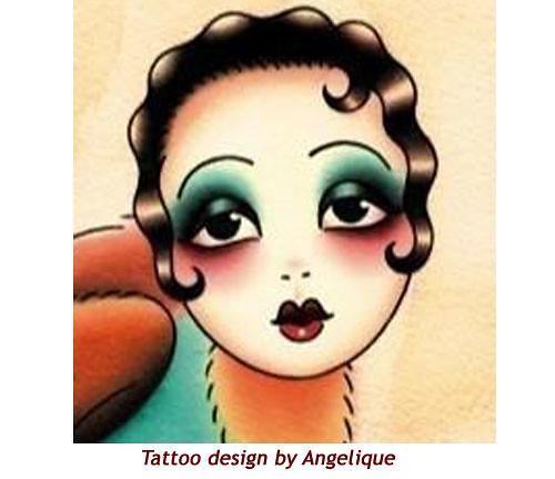 Flapper Girl Flash Tattoo