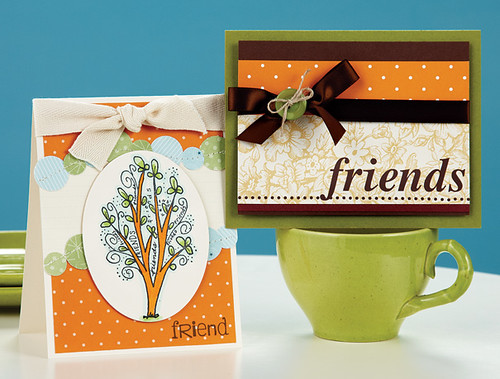 Maren Benedicts Friends Tree Card and Dawn McVeys Friends Card from CC7