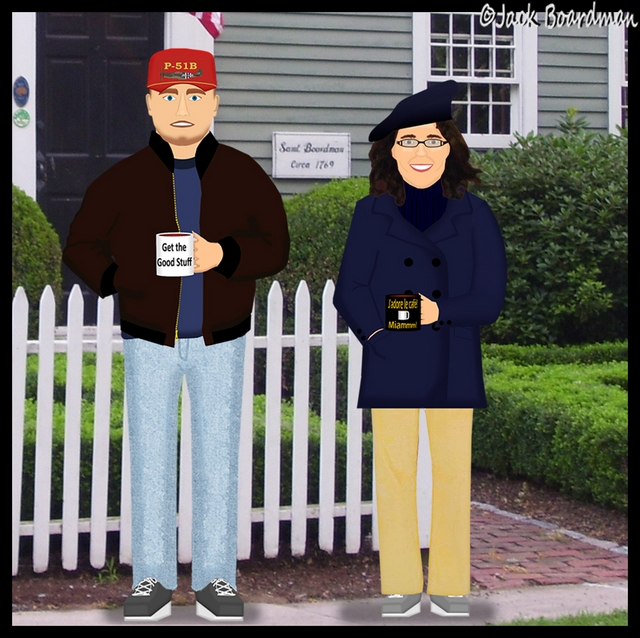 Andrew & Sarah visit an ancestor's home in Wethersfield, CT