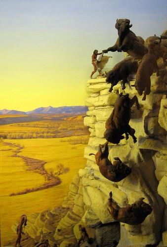 Buffalo Jump Diorama