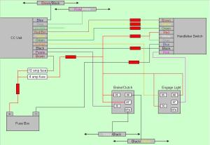 Rostra CC Wiring Diagram and dipswitch settings for DL650