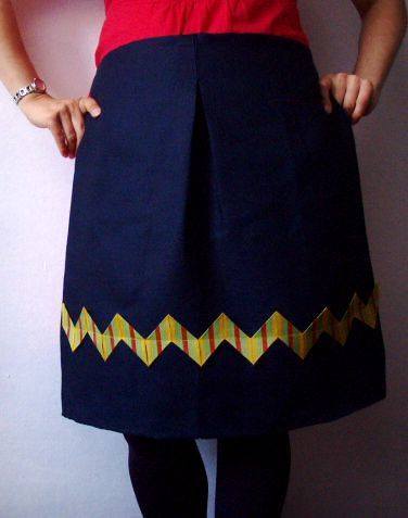 Zigzag apron