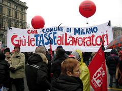 Milano: Sciopero Generale Nazionale della CGIL