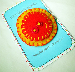 Felt Sunshine Happy Sun Brooch by lova revolutionary