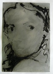 Drypoint - plate with iron oxide
