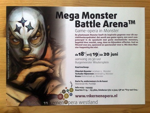 Mega Moster Battle Arena flyer