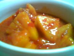 Sibu's Bandong stall - pineapple 2