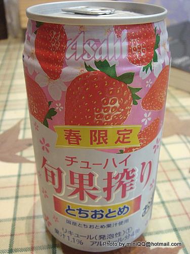 [飲料] 草莓水果酒(ASAHI) @ MINIQQ :: 痞客邦