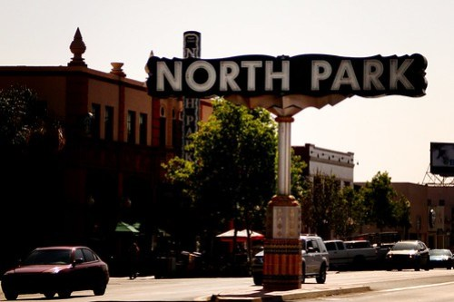 north park neighborhood sign