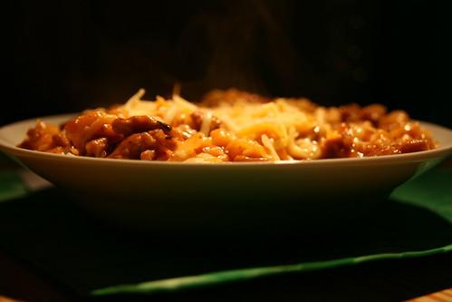 Cheesy Meaty Pasta