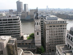 The view from the top of the Monument - a Christopher Wren church