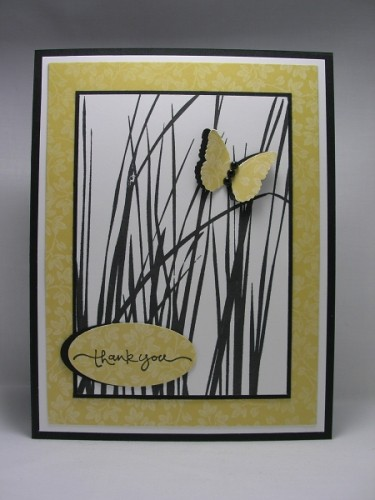 We just loved jnicolelegers clean and graphic thank you card.