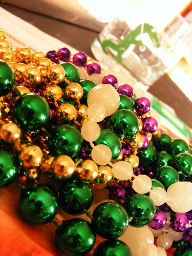 my beads---in the official colors of mardi gras