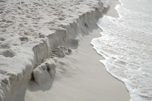 Sand cliffs.