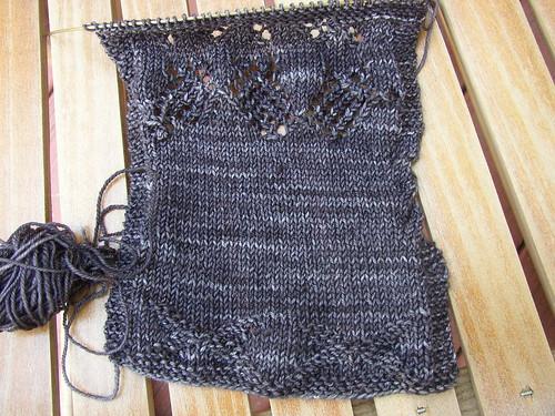 malabrigo sock sweater swatch