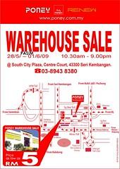 Poney warehouse sale