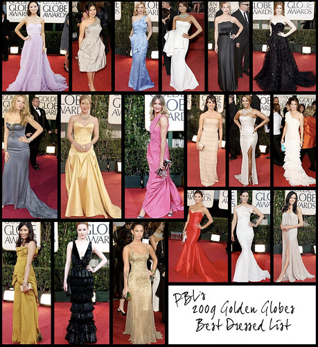 Golden Globes Best Dressed List