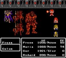 Pelea en Final Fantasy II