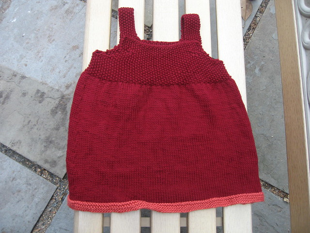 burgundy dress in a bell shape