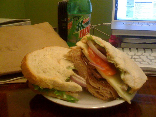 Josh Mishell's Brownbag Turkey Sandwich