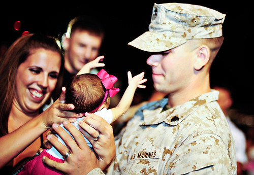 Home from Iraq first time meeting daughter!