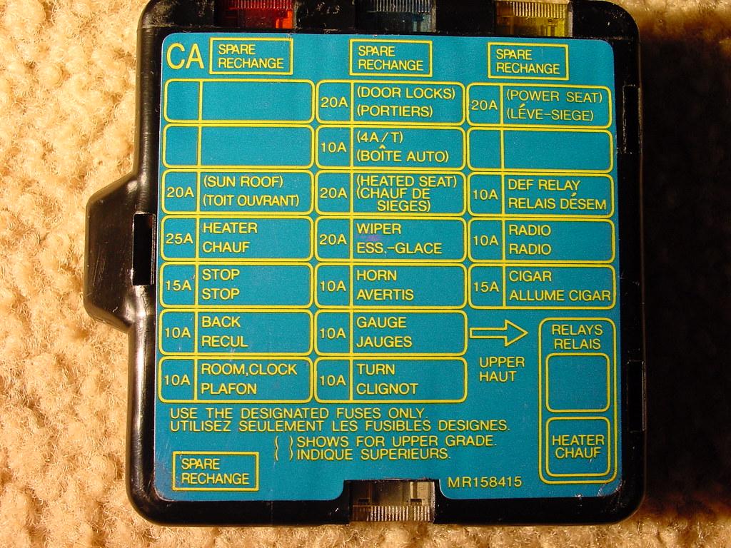 1994 Mitsubishi Montero Instrument Cluster Circuit Schematic Diagram