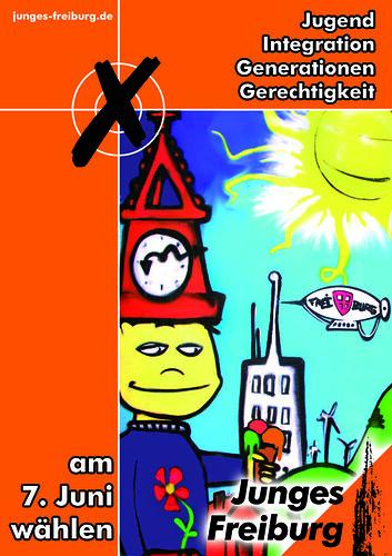 Wahlplakt von Junges Freiburg