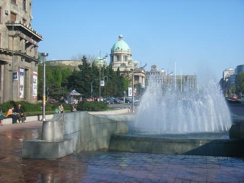 A Beautiful Day in Downtown Belgrade