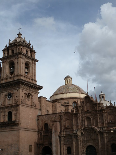 A church on the Plaza de Armas in Cusco.