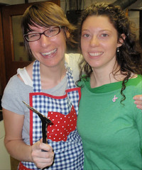 Jenni from Pattycake and Amy a breakfast organizer