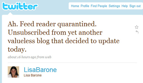 Lisa Barone: The New Feed User