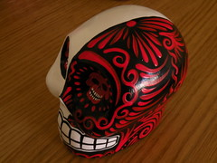 Red & White Calavera