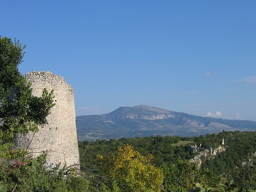 Necven Fortress - Trosenj is across the canyon