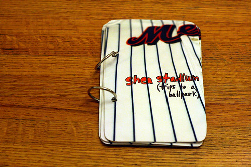 get crafty project #1: a minibook of trips to Shea Stadium