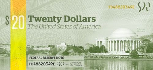 dolar 20 trasera