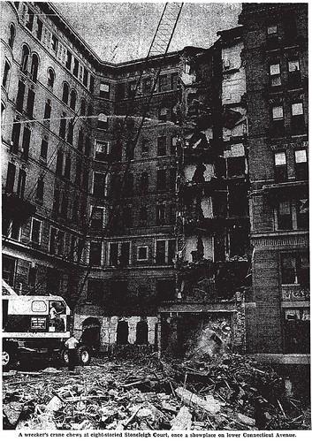 Stoneleigh Court being razed, 1965